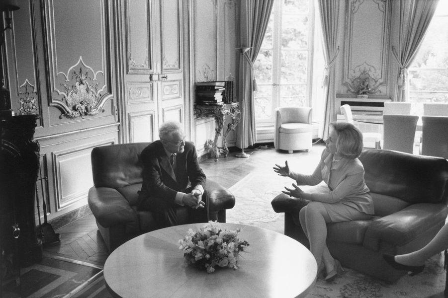 Lionel Jospin reçoit Hillary Clinton