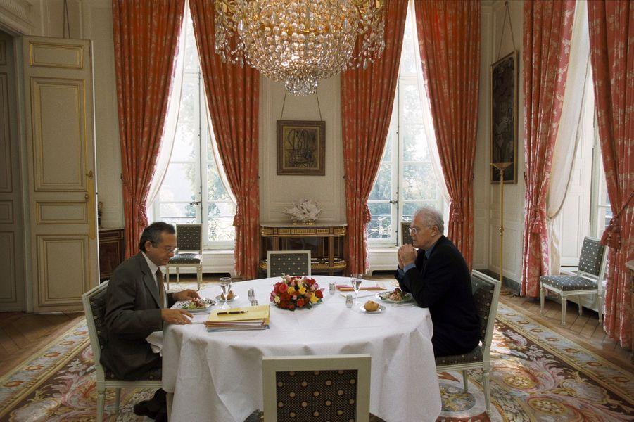 Octobre 1997 : déjeuner de travail avec le directeur de cabinet, Olivier Schrameck, aujourd'hui président du CSA