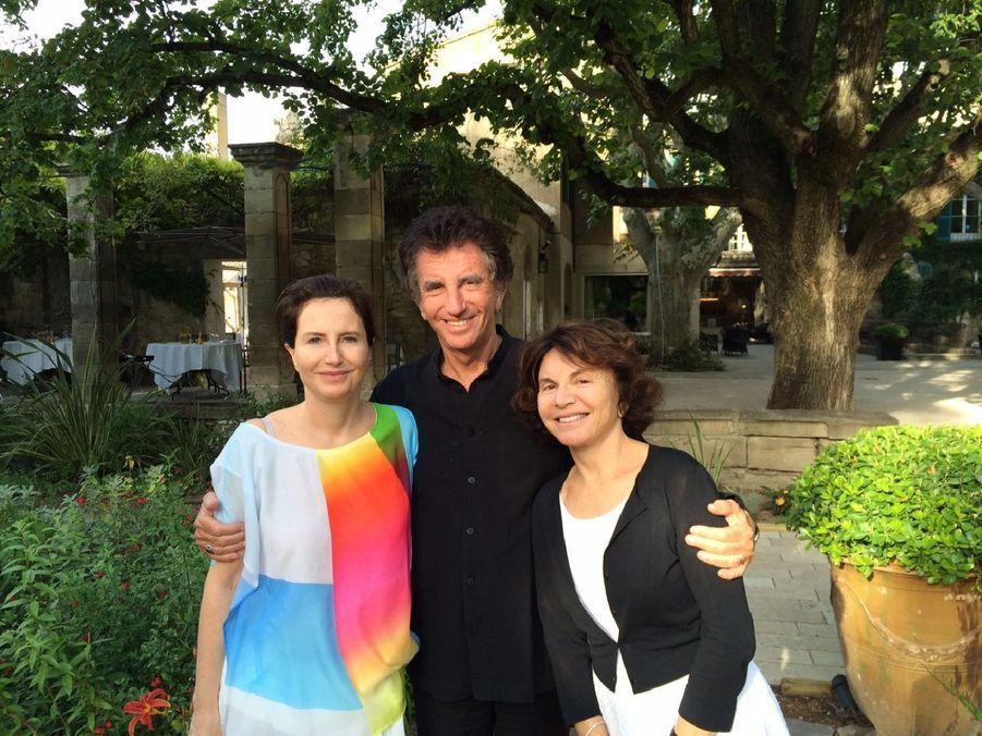 Week-end familial au festival d'Avignon pour Jack Lang.