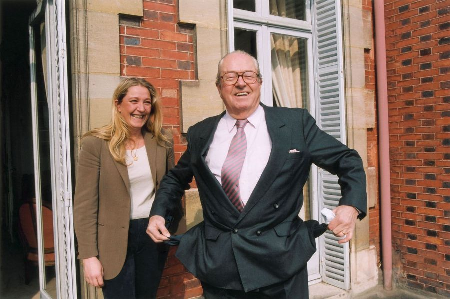 Marine et Jean-Marie Le Pen en 2002