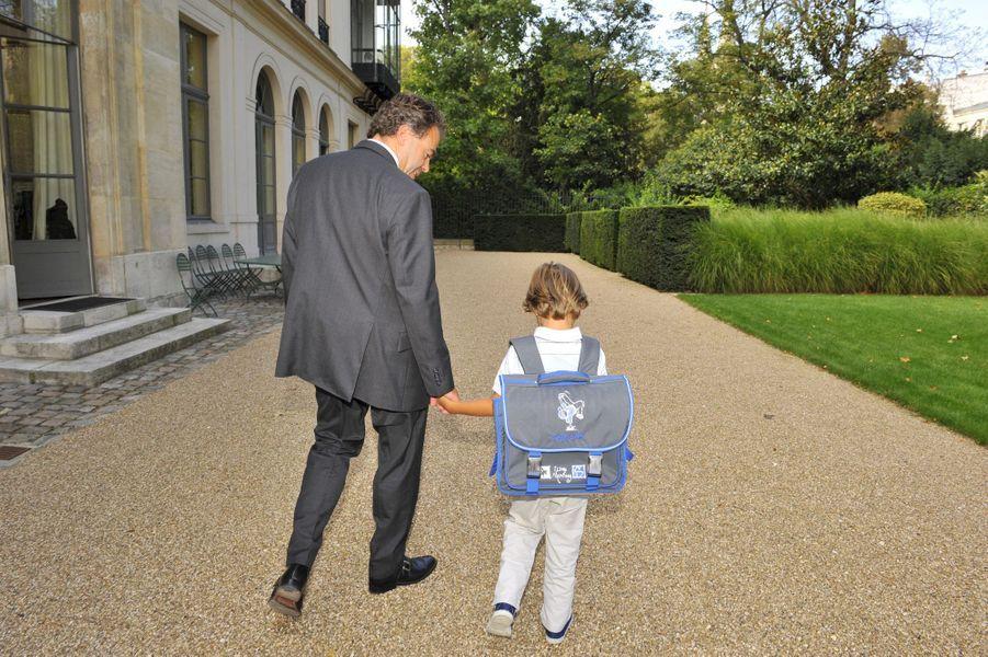 En 2011, Luc Chatel avec son fils, Maxence