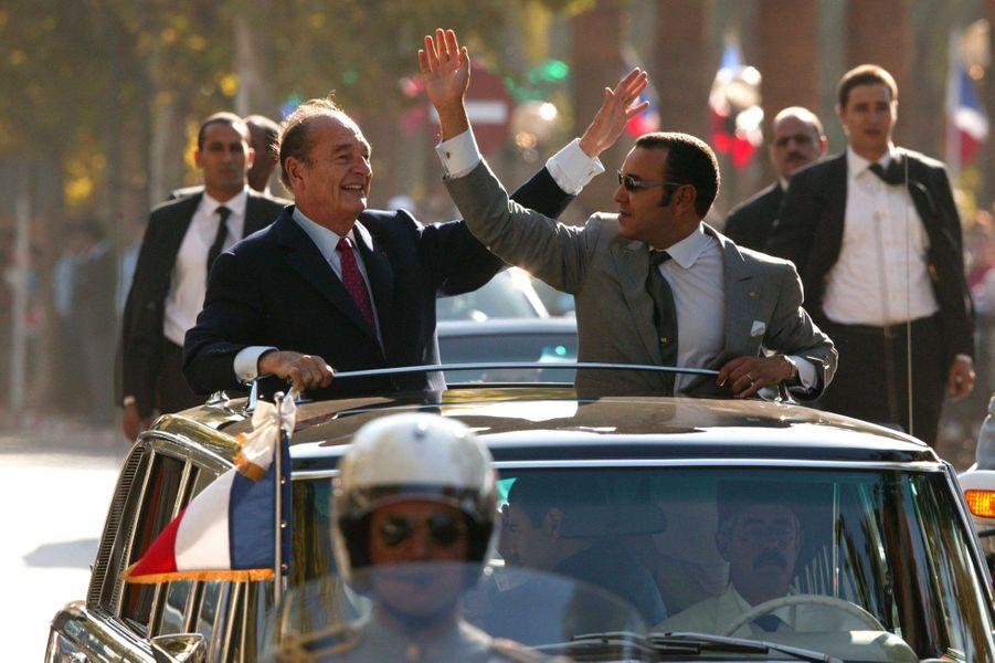 Jacques Chirac et Mohammed VI en 2003