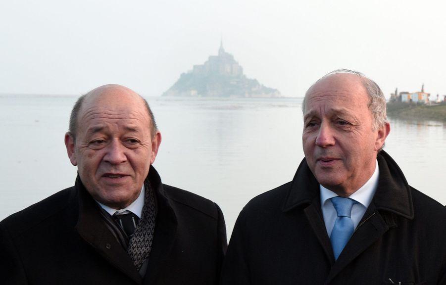 Jean-Yves Le Drian et Laurent Fabius en mars 2015