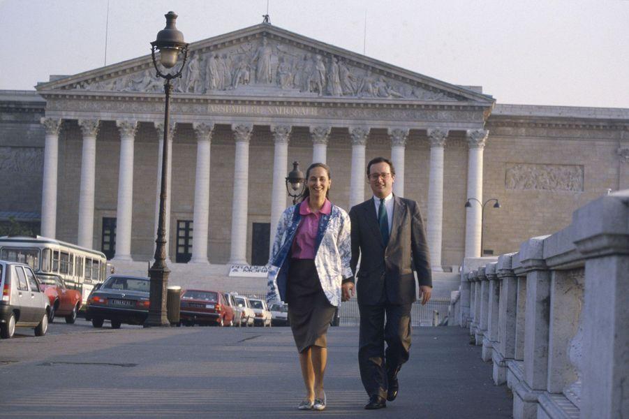 Juin 1988 : en couple... à l'Assemblée