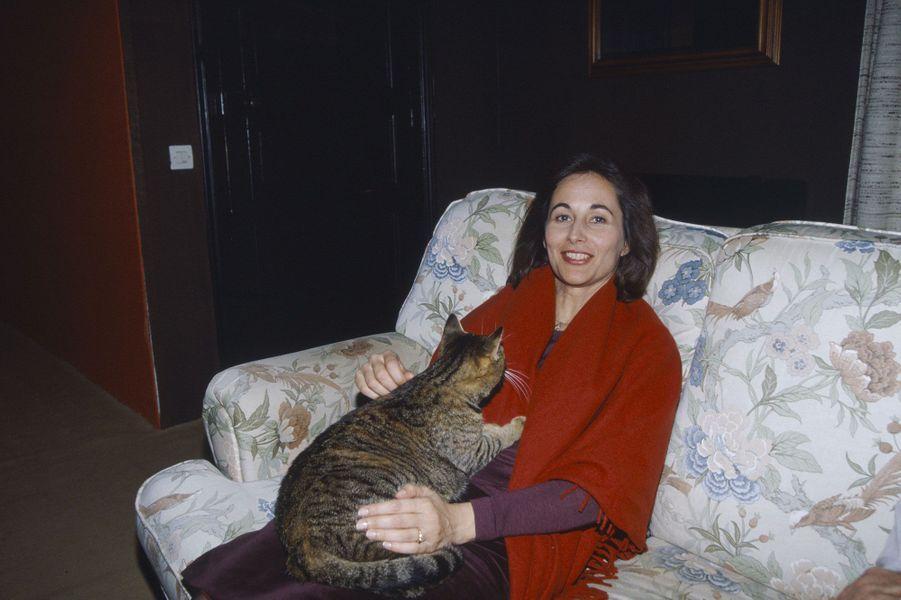 Mars 1998 : Ségolène en campagne... avec un chat