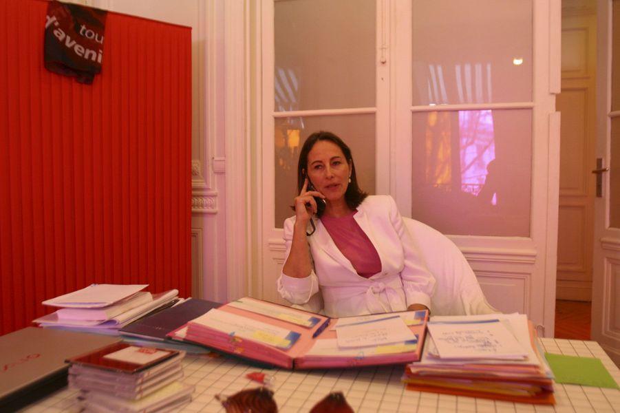 Mars 2007 : Ségolène Royal à son QG de campagne