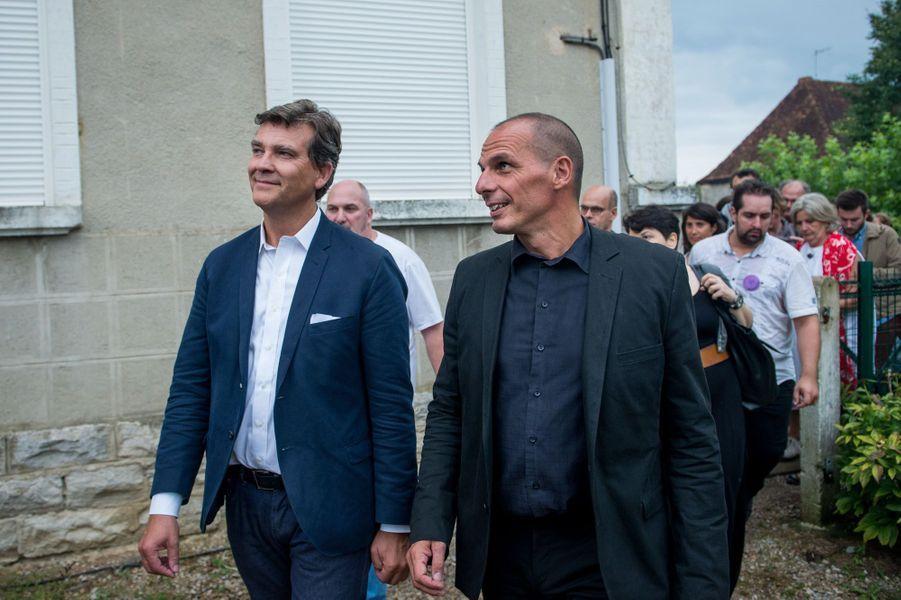 Arnaud Montebourg et Yanis Varoufakis