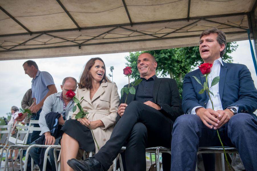 Aurélie Filippetti, Yanis Varoufakis et Arnaud Montebourg