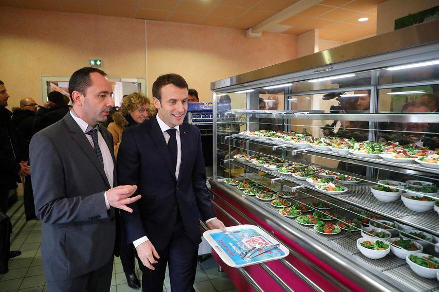 Emmanuel Macron àEtang-sur-Arroux, en Saône-et-Loire, le 7 février 2019.