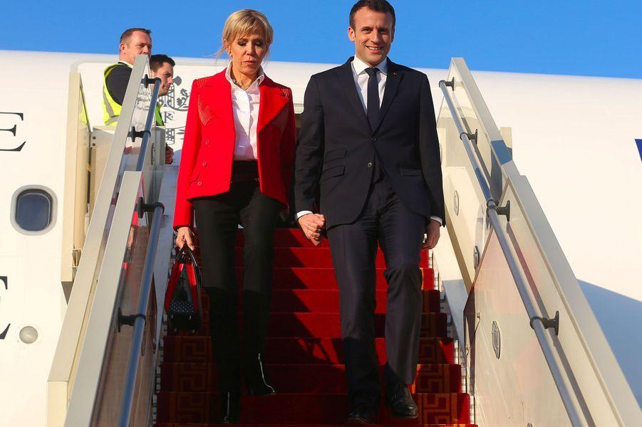 Brigitte et Emmanuel Macron à Tunis, le 31 janvier 2018.