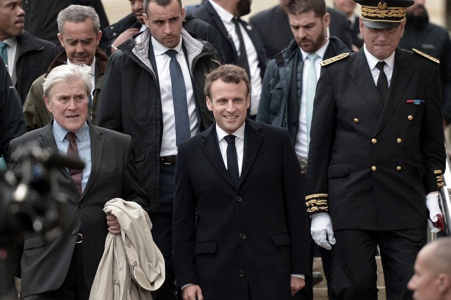 Emmanuel Macron vendredi lors de sa visite à Biarritz pour préparer le G7.
