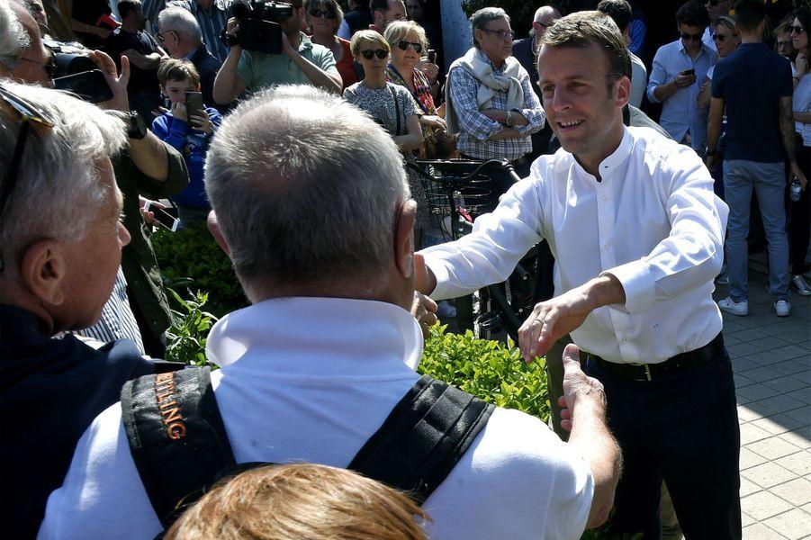 Emmanuel Macron au Touquet dimanche.
