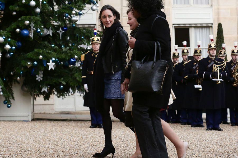 Brune Poirson, Secrétaire d'État auprès du ministre de la Transition écologique et solidaire, arrive à l'Elysée.