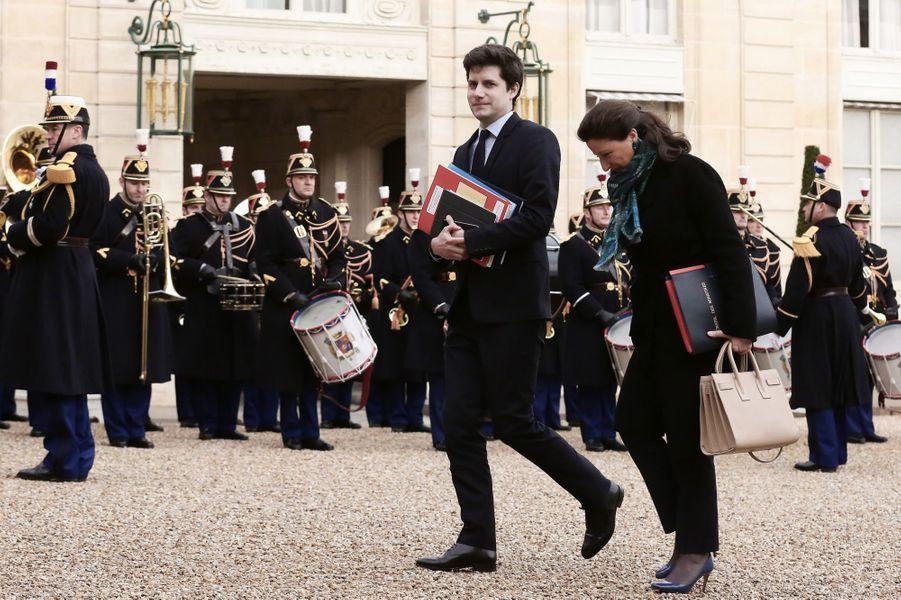 Julien Denormandie, secrétaire d'Etat auprès du ministre de la Cohésion des territoires,arrive à l'Elysée.