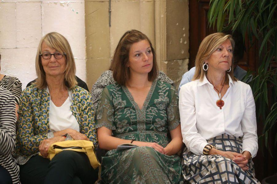 Françoise Nyssen, Joséphine et Carol-Annede Carolis le 5 juillet 2020.