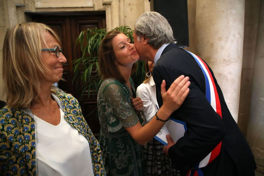 Séanced'installationde Patrick De Carolis le 5 juillet 2020.