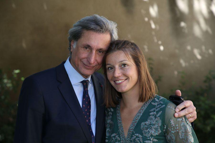 Patrick de Carolis et sa fille le 5 juillet 2020.