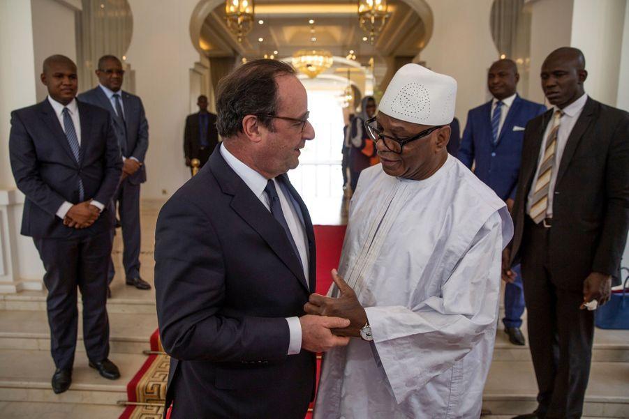 Rencontre avec le Président malien Ibrahim Boubakar Keita au palais présidentiel.
