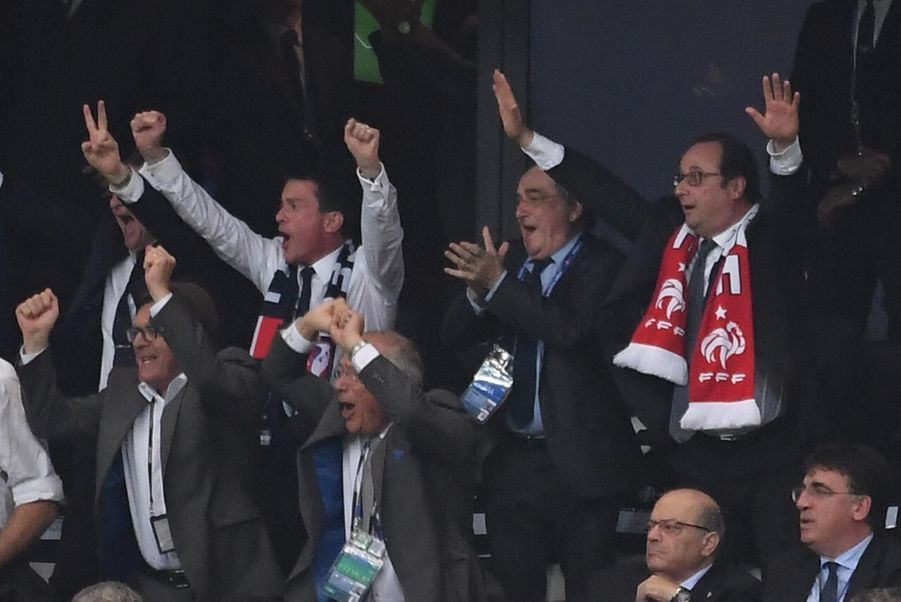 François Hollande au stade Vélodrome