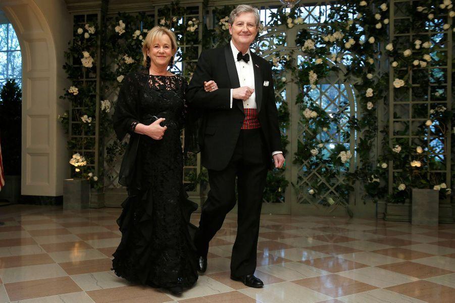 Le sénateur John Kennedy et son épouse Rebecca.