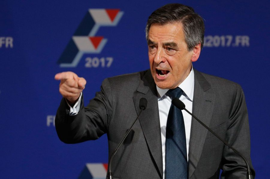 François Fillon en meeting vendredi soir à Paris.