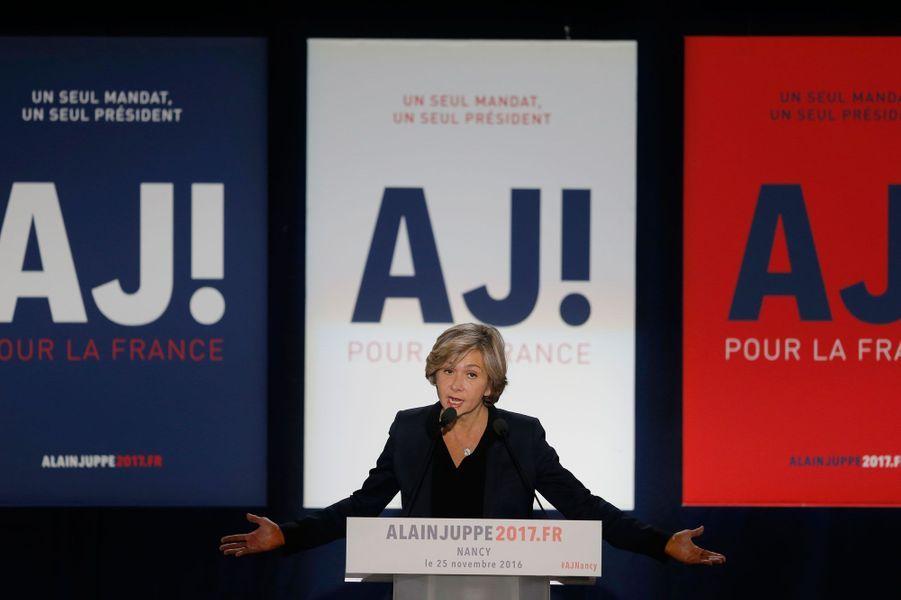 Valérie Pécresse, soutien d'Alain Juppé, vendredi soir à Nancy.
