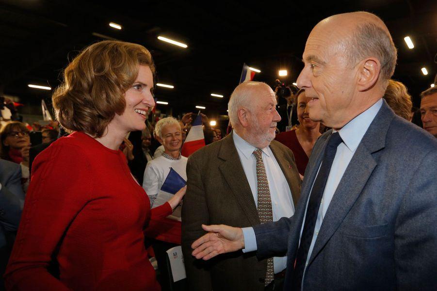 Alain Juppé et Nathalie Kosciusko-Morizet, qui lui a apporté son soutien.