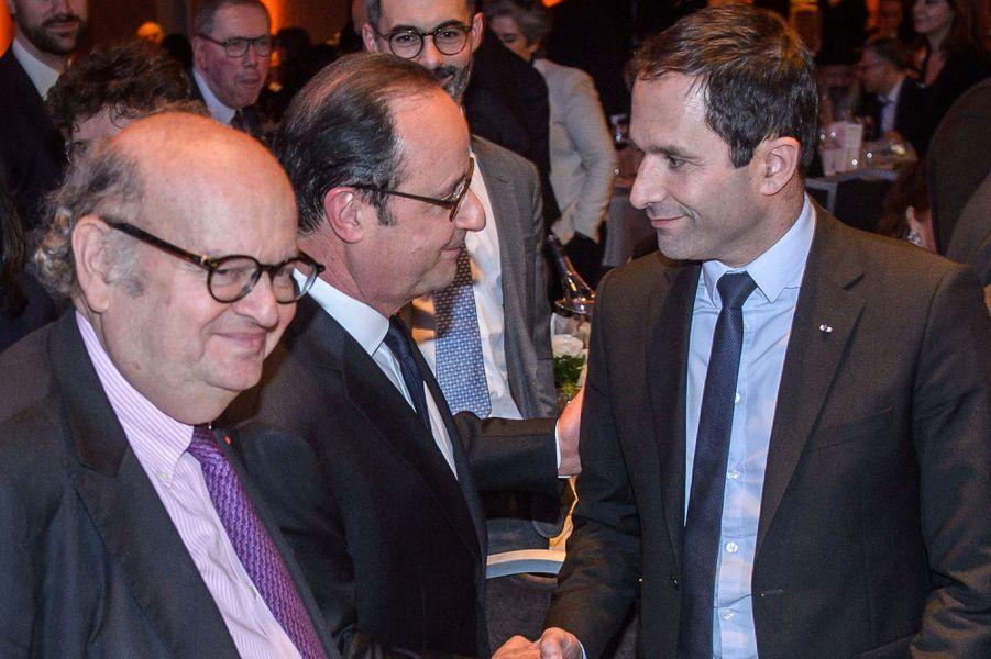 François Hollande et Benoît Hamon