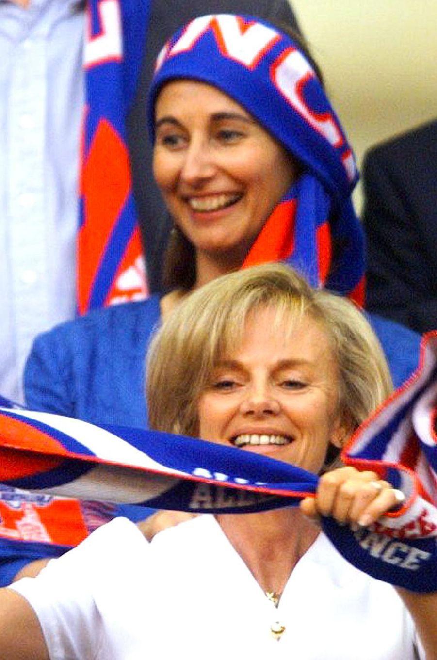 Elisabeth Guigou et Segolène Royal au Stade de France, le 12 juillet 1998.