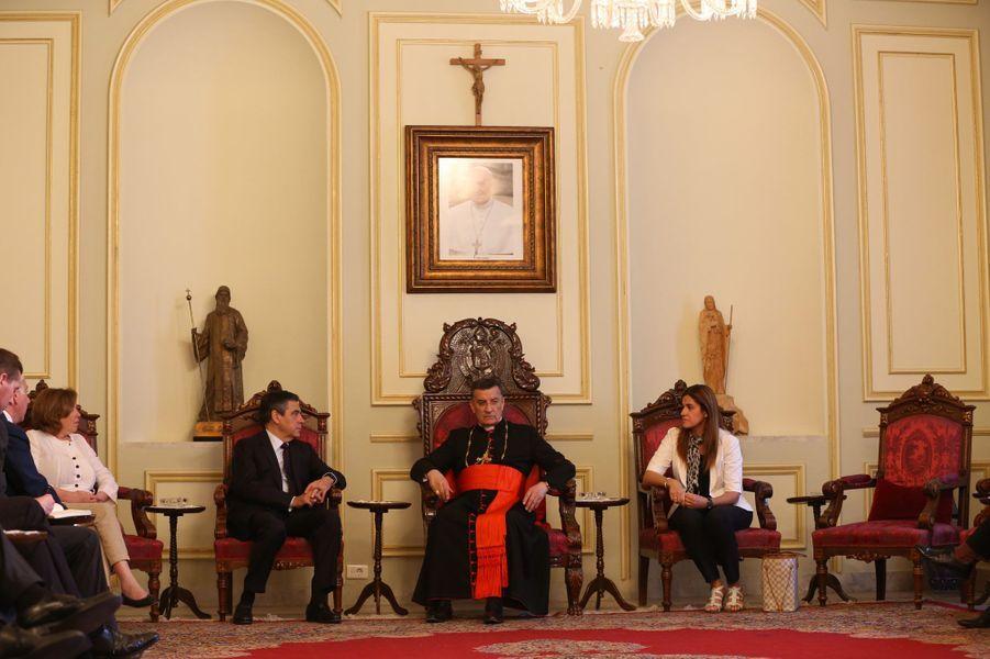 Vendredi 3 juin à Beyrouth, entretien entre le patriarche Bechara Boutros Rai et François Fillon.