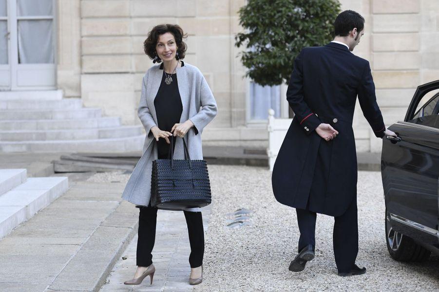 La ministre de la Culture Audrey Azoulay à l'Elysée, le 2 mai 2017.