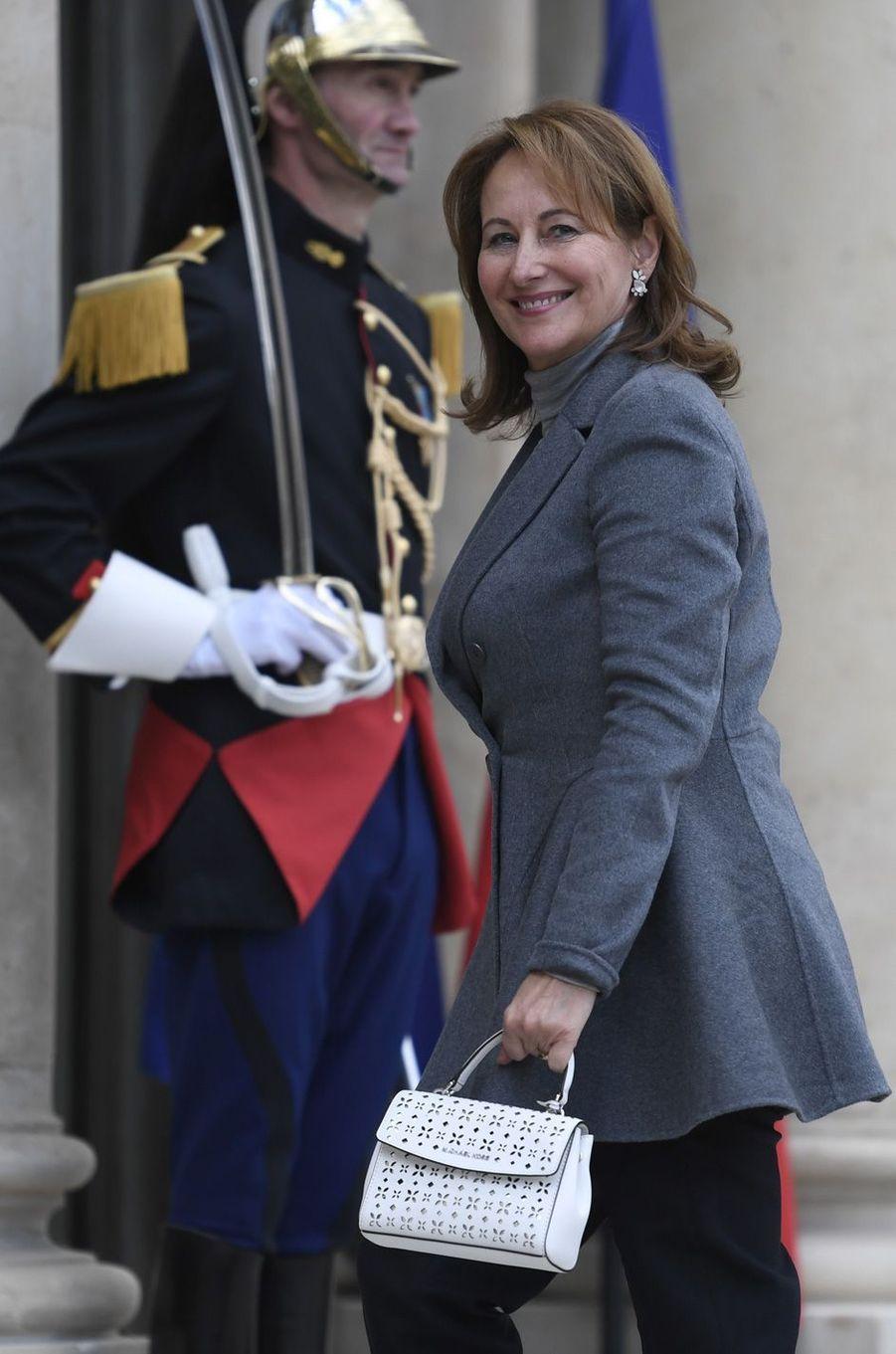 La ministre de l'Environnement Ségolène Royal à l'Elysée, le 2 mai 2017.