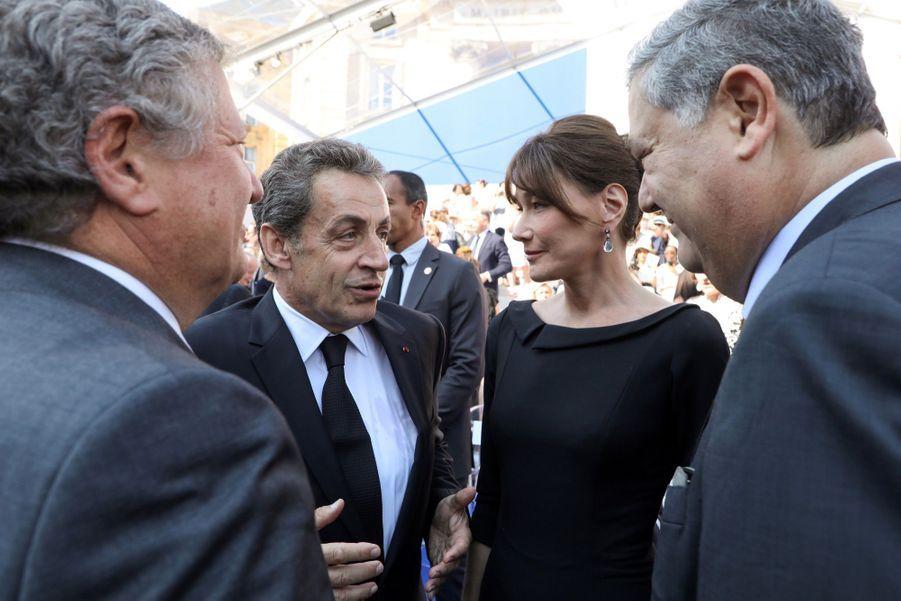 François Hollande, Julie Gayet, Nicolas Sarkozy Et Carla Bruni À La Cérémonie De L'entrée Au Panthéon De Simone Veil ( 10