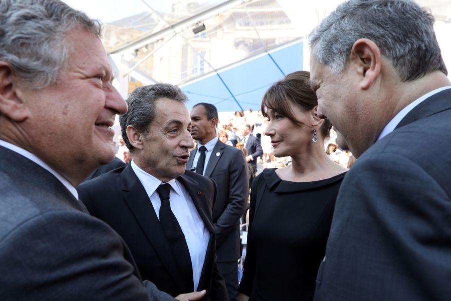 François Hollande, Julie Gayet, Nicolas Sarkozy Et Carla Bruni À La Cérémonie De L'entrée Au Panthéon De Simone Veil ( 11