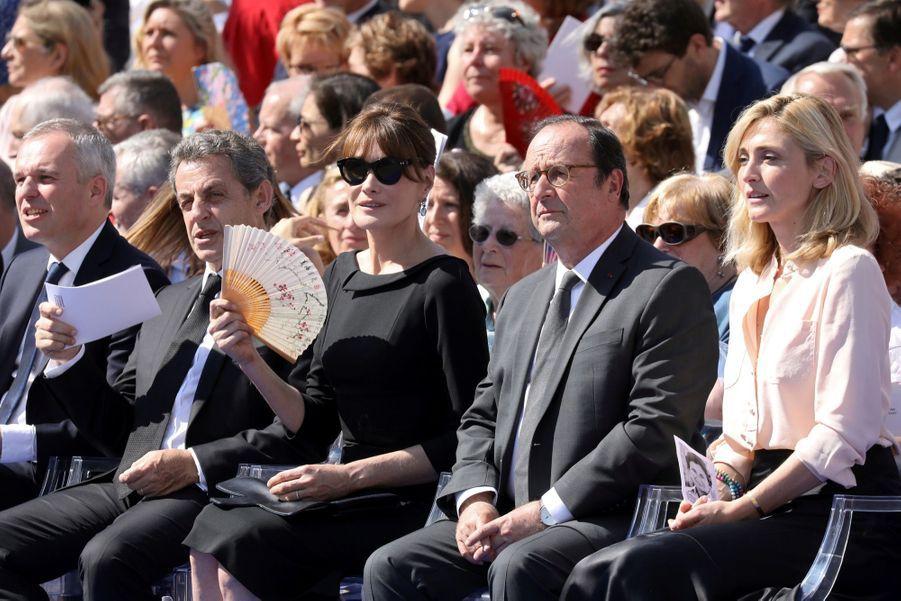 François Hollande, Julie Gayet, Nicolas Sarkozy Et Carla Bruni À La Cérémonie De L'entrée Au Panthéon De Simone Veil ( 12