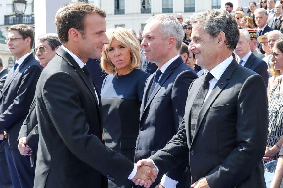 François Hollande, Julie Gayet, Nicolas Sarkozy Et Carla Bruni À La Cérémonie De L'entrée Au Panthéon De Simone Veil ( 13