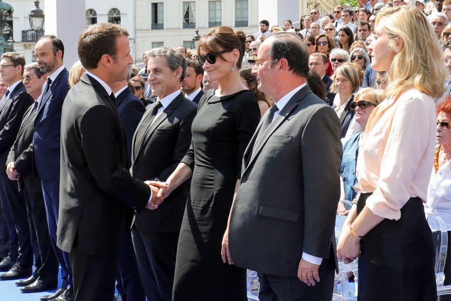 François Hollande, Julie Gayet, Nicolas Sarkozy Et Carla Bruni À La Cérémonie De L'entrée Au Panthéon De Simone Veil ( 8