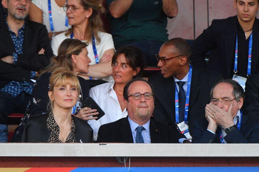Julie Gayet, François Hollande etNoël Le Graët, le 31 mai 2019.