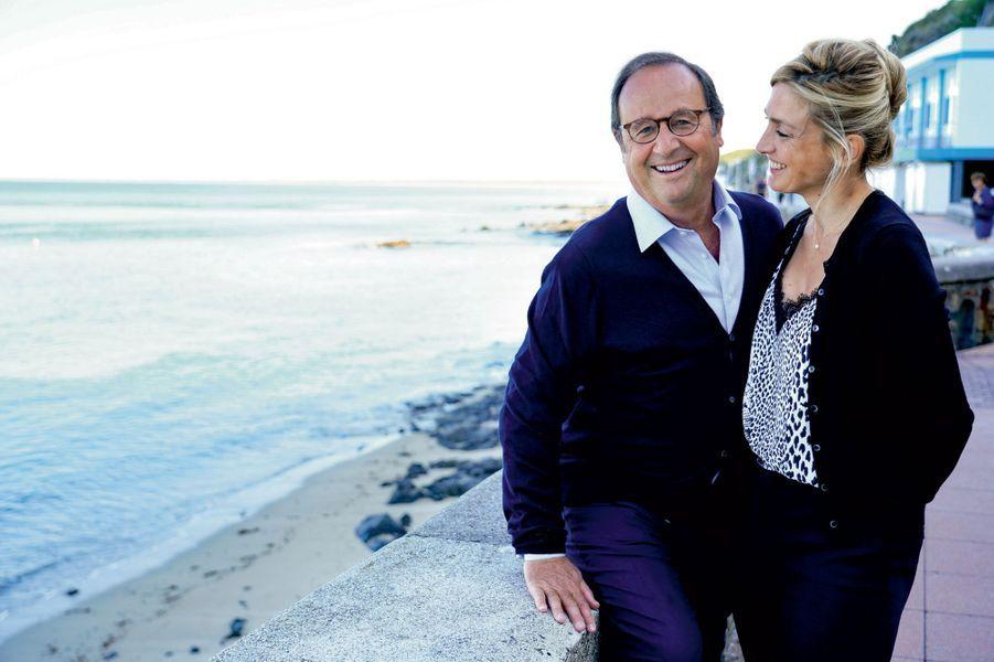 François Hollande et Julie Gayet à Granville le 2 septembre.