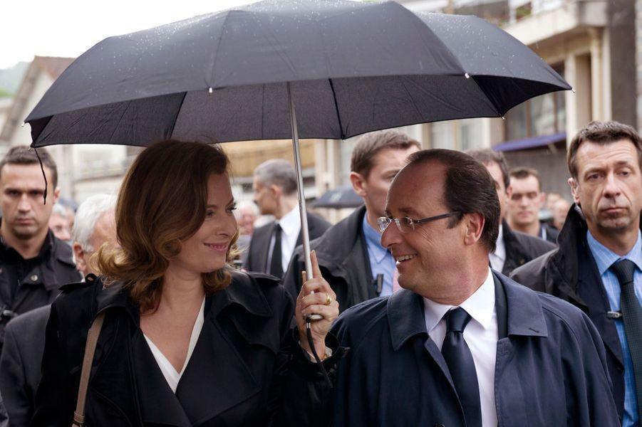 Francois Hollande et Valérie Trierweiler à Tulle, en juin 2012.
