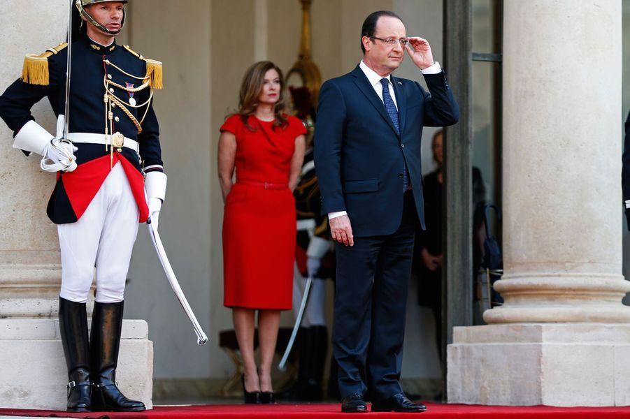 François Hollande et Valérie Trierweiler, à l'Elysée en mai 2013.