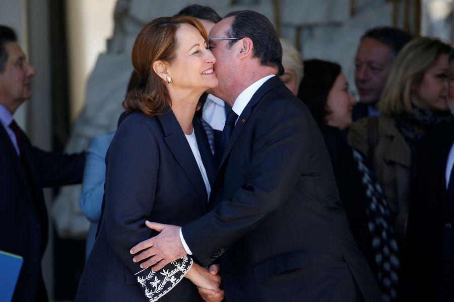 François Hollande et Ségolène Royal.