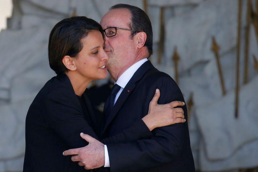 François Hollande et Najat Vallaud-Belkacem.