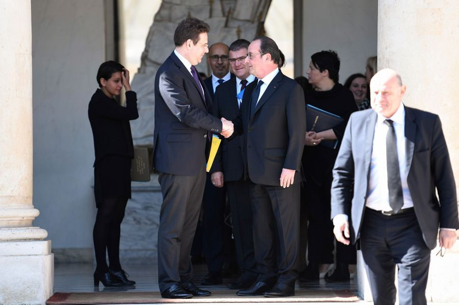 François Hollande avec Matthias Fekl.