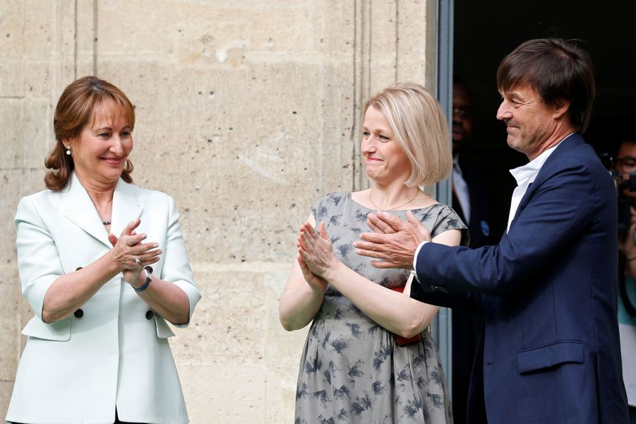 Nicolas Hulot, le ministre de la Transition écologique et solidaire, rend hommage à Ségolène Royal.