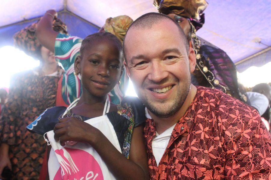 Guillaume Gomez et la petite Yandé.