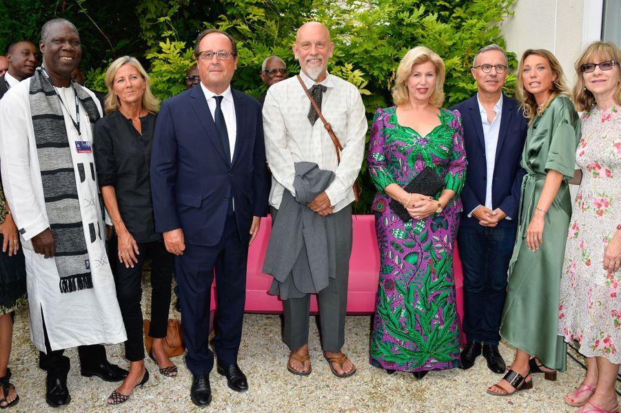 Maurice Bandaman, Claire Chazal, François Hollande, John Malkovich, Dominique Ouattara, Philippe Besson, Laura Smet et Denise Robertau Festival d'Angoulême mardi.