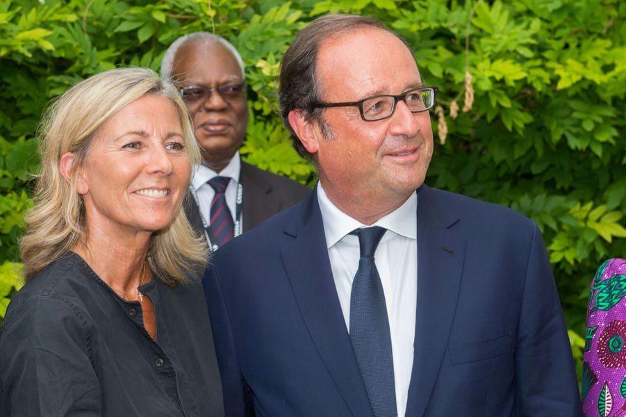 François Hollande et Claire Chazal au festival d'Angoulême.