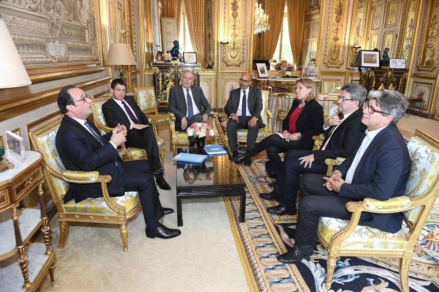 François Hollande et Jean-Luc Mélenchon