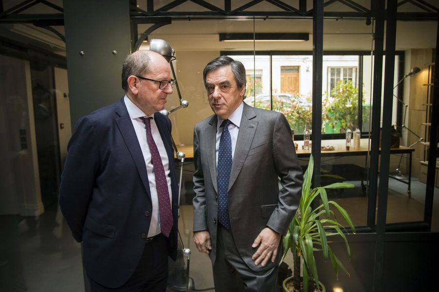 L'ancien ministre Hervé Novelli et François Fillon